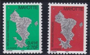 Mayotte 144-145 MNH (2001)