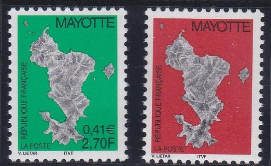 Mayotte 144-145 MNH (2001)