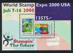 Suriname World Stamp Expo 2000 Anaheim California MS SG#MS1862