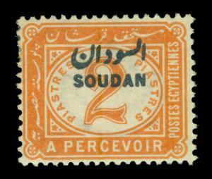 SUDAN 1897  POSTAGE DUES  2p orange  Scott # J4  mint MH