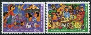 Sri Lanka 2020 MNH Christmas Stamps Nativity 2v Set