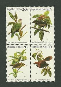 BIRDS - PALAU #8a  MNH
