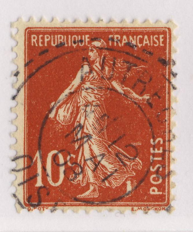 FRANCE - 1908 - CàD FACTEUR-BOÎTIER T.1884  AUTRECHES / OISE  sur Yv.138