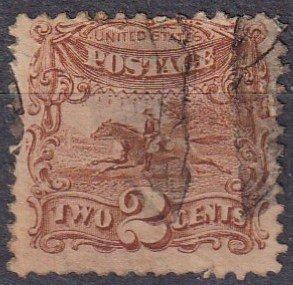 US #113  F-VF Used  CV $80.00  (Z1971)