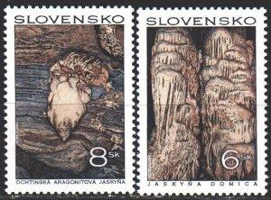 Slovakia. 1997. 280-81. Caves, stalactids. MNH.