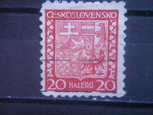 CZECHOSLOVAKIA, 1931, used 20h, Coat of Arms. Scott 154