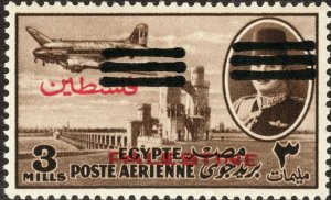 1953 Egypt King Farouk DC-3 occupation double O/P bars MLH Sc# NC26 CV: ?