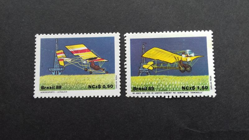 Brazil 1989 Aerosports and the 80th Anniversary of the Santos Dumont's FlighMint