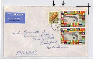 CE174 Kenya *MALINDI* 1972 KUT Stamp Air Mail Cover
