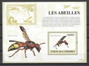 Comoros Is., 2009 issue. Flying Insect s/sheet. *