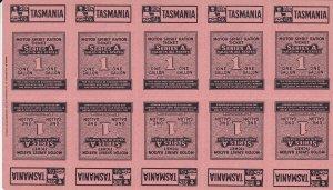 C8) Tasmania WWII Motor Spirit Ration Tickets for 1 Gallon & 2 Gallons