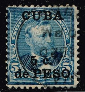 United States>Possessions CUBA # 225 5c Ovpt.1899 USED STAMP