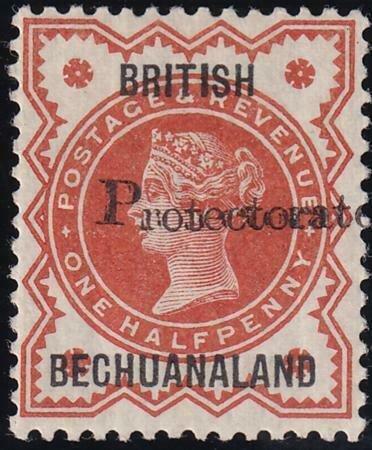 Bechuanaland 1888-1890 SC 52a MLH Double Overprint