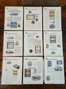 US 1979 Complete Year Set #105-121 USPS Commemorative Stamp Panels SCV $163.75