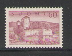 Finland Sc 338A 1957 60m pale purple Fortress stamp mint NH