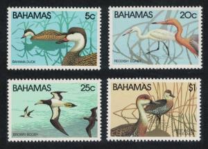 Bahamas Pintail Egret Booby Whistling Duck Birds 4v 1981 MNH SG#589-592 CV£8.25