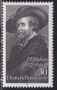 Germany # 1250, Rubens - Self Portrait, NH, 1/2 Cat.