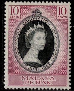MALAYSIA - Perak QEII SG149, 10c black & reddish purple 1953 CORONATION, M MINT.