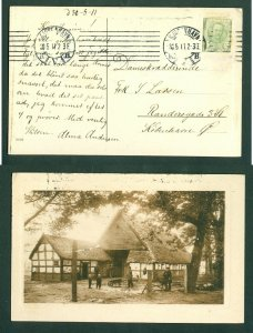 Denmark. Postcard Embossed Photo 1911. 5 Ore. Farm, People Working.See Condition