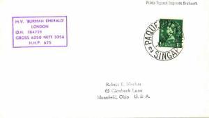 Singapore Great Britain 1 1/2d QEII Wilding 1955 Paquebot, Singapore Hosking ...