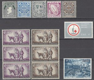 COLLECTION LOT OF #1735 IRELAND 13 MH/UNUSED NO GUM STAMPS 1940+
