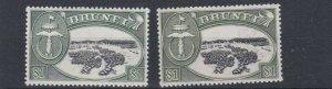 BRUNEI  1952 - 58    S G  111 + 111A  $1   X 2    MH