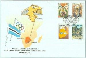 83850 - BOTSWANA  - Postal History -  FDC COVER  - 1996 Atlanta OLYMPIC GAMES