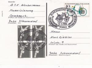 West Germany 1984 150th Birthday of Daimler Homemade FDC Postcard used VGC