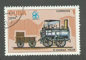 1986 Cuba Scott Catalog Number 2863 Used