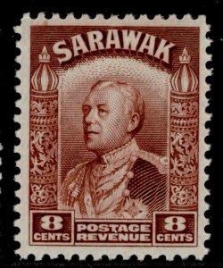 SARAWAK GV SG112, 8c red-brown, LH MINT.