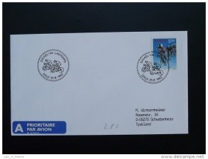 bicycle cycling world cup postmark on cover Norway 25/08/1993