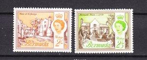 J26608 JLstamps 1962-5  bermuda mh #186-7 queen views