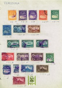VENEZUELA  STAMP USED STAMPS ON PAGE COLLECTION LOT  #3