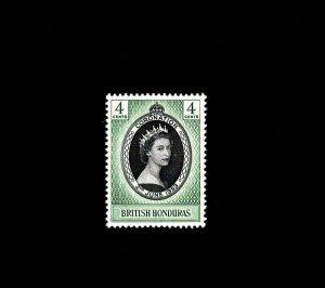 BRITISH HONDURAS  - 1953 - QE II - CORONATION ISSUE - MINT - MNH - SINGLE!