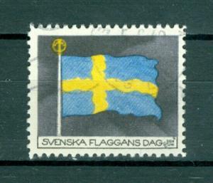Sweden Poster Stamp 1942. National Day June 6. Swedish Flag. Cancel