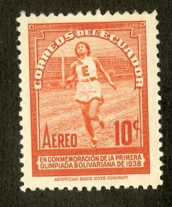 ECUADOR C66 MH SCV $2.25 BIN $1.00 OLYMPICS