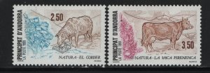 ANDORRA, 406-407, HINGED, 1991, FARM ANIMALS