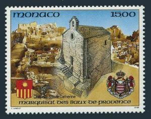 Monaco 1835,MNH.Michel 2088. Chapel of St.Catherine,1992.Arms.