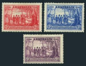 Australia 163-165,hinged.Michel 153-155. Gov. Arthur Phillip at Sydney Cove,1937