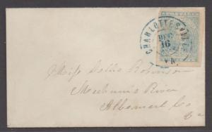 **CSA Cover, SC# 2 Paterson Charlottesville, VA 12/16/1862, Stone Y