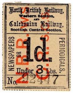 (I.B) North British (Western Section) & Caledonian Railway : Newspapers 1d