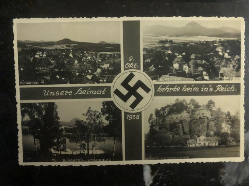 1938 Burgstein Germany RPPC Postcard Cover to Vienna Our Home Town