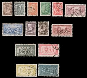 Greece #184-97 Used 1906 Olympic Games CV$325.40 (Expertized) [100734]