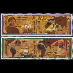 GIBRALTAR 1992 - Scott# 611a-3a Europa-America Set of 4 NH