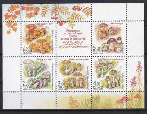 Russia 2003 Mushrooms MNH sheet