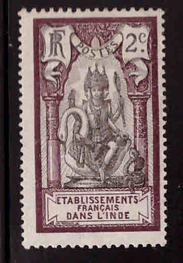 FRENCH INDIA  Scott 26 MH*1 914
