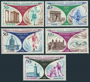 Central Africa C105-C109,MNH.Michel 304-308. Olympic Games 1896-1912.1972.