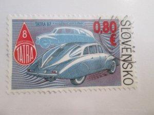 Slovakia #621 used  2021 SCV = $1.25