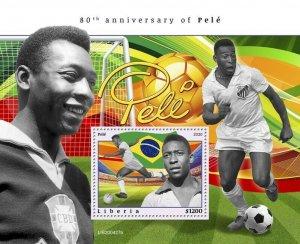 YEAR 2020/10- LIBERIA- SPORT FOOT-BALL PELE        1V complet set    MNH ** T