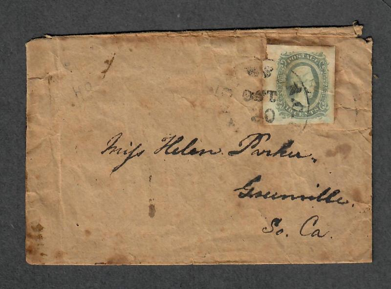 CSA Sc#11c Anderson S.C. 1864 Cover Transcribed Contents!